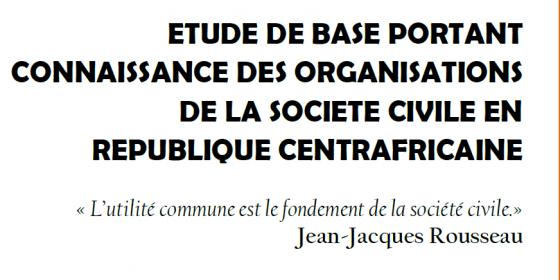 Illustration rapport - Les organisations de la société civile en RCA