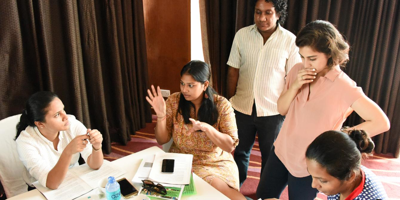 Group work carried out during the ENOUGH workshop