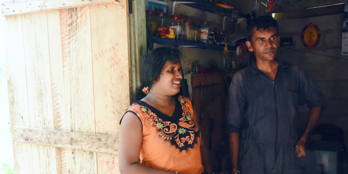 Sri Lankan woman and husband