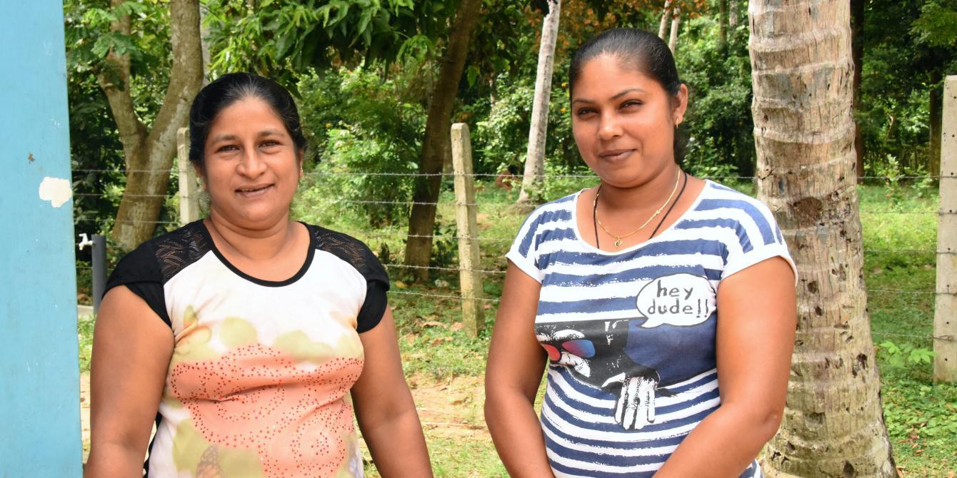 Women from Mahaweva, at the community center