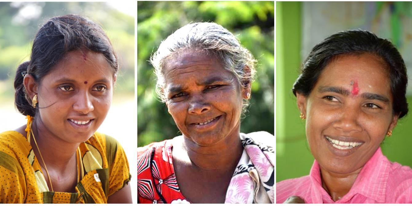 Smiling women. With Oxfam's help their community is now more resilient. Photograph: Nipuna Kumbalathara/Oxfam