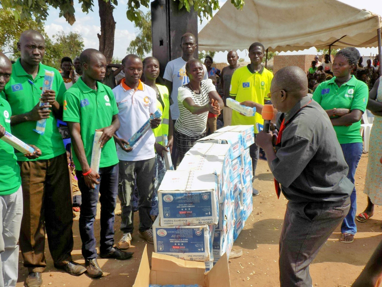 Hygiene promotion champions awarded for their excellence during World Toilet Day celebration.Photo credit: Oxfam