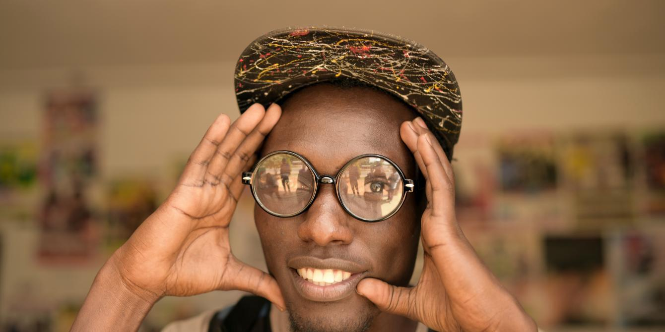 Jonathan,is a videographer trained under the Oxfam Arua bits youth project