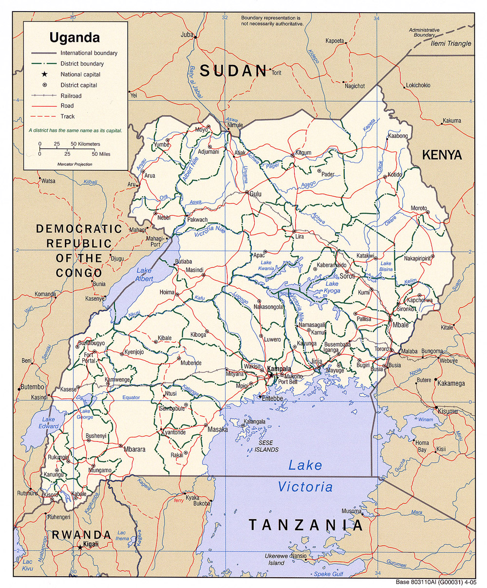 Map of Uganda / credit: Online source