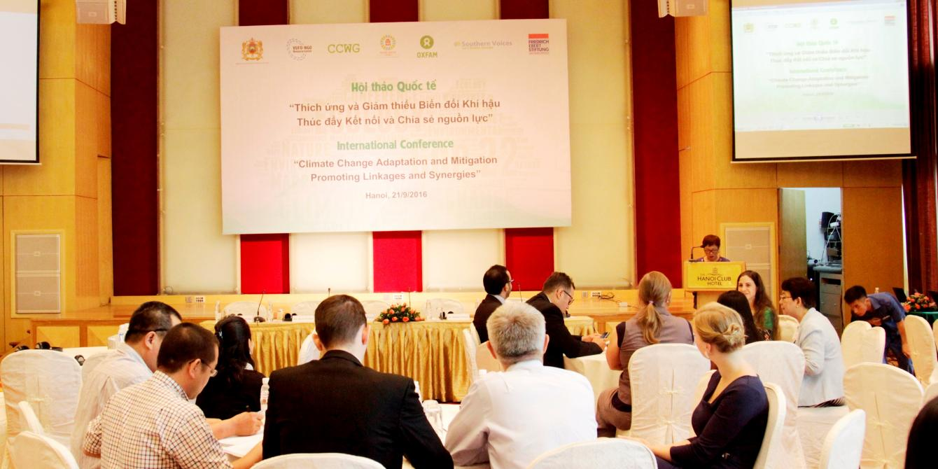 Pre-COP22 conference on climate change in Hanoi. Credit: Oxfam Vietnam