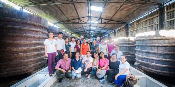 EFD Representatives visit Van Phan Fisheries  Company. Credit: Oxfam Vietnam