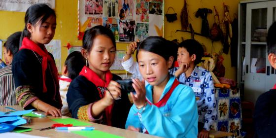 Ethnic minority children take part in projects in Sa Pa, Vietnam. Credit: Oxfam Vietnam