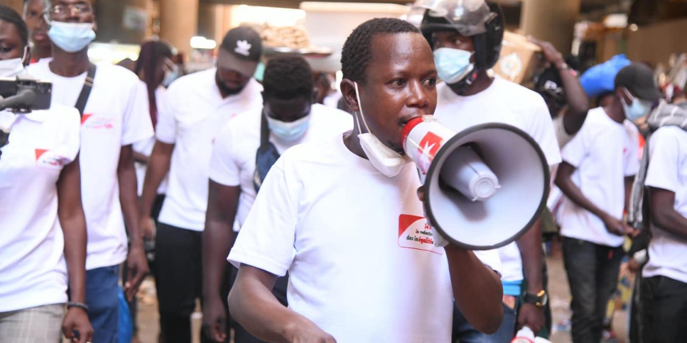 Photo prise lors d'une des activités terrain avant l'élection présidentielle de novembre 2020. Crédit : Coalition Agir contre les inégalités