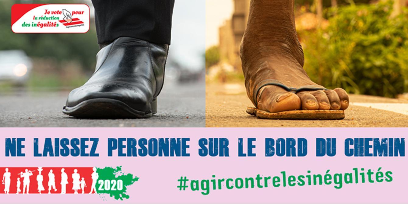 Visuel de la campagne de lutte contre les inégalités au Burkina Faso