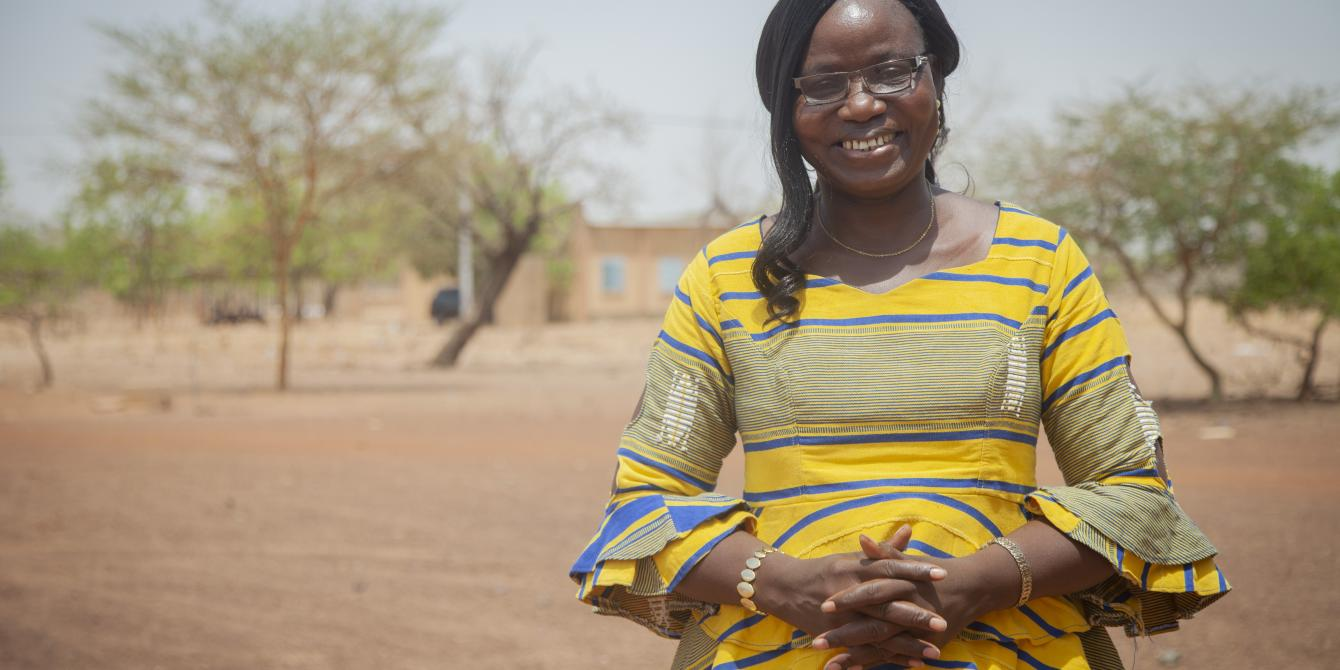 Naomie Ouedraogo is a woman committed to peace in Burkina Faso