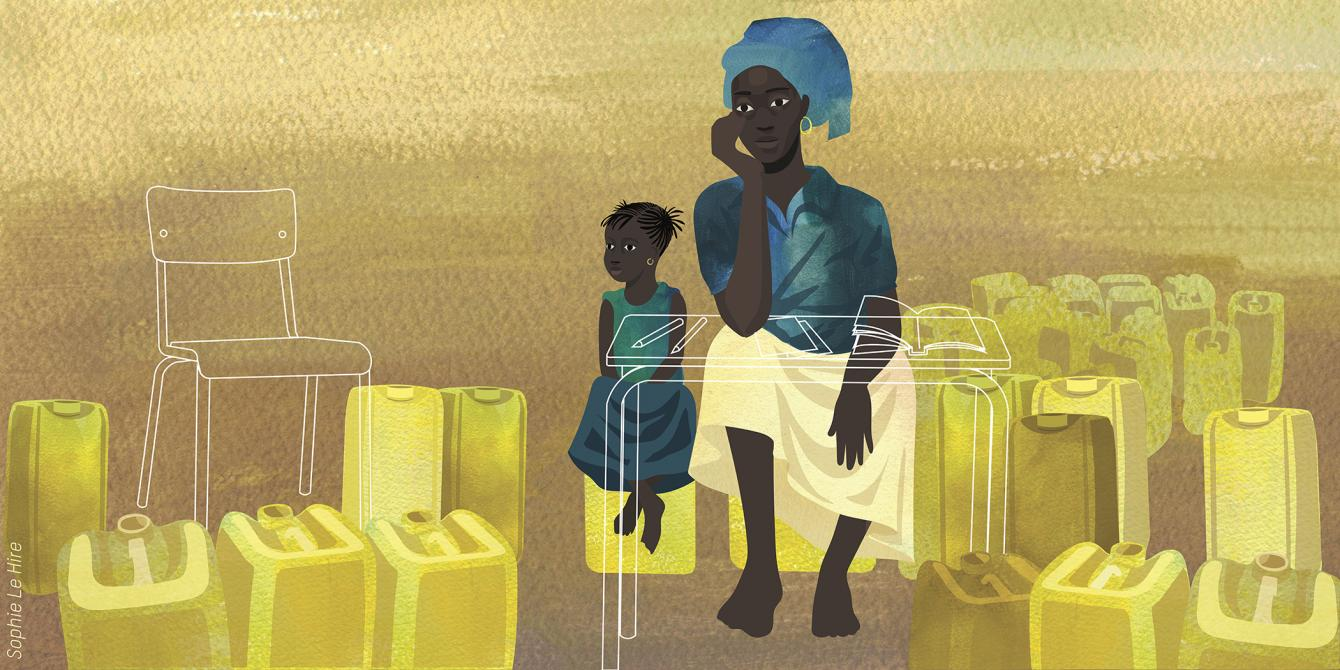 Illustration of Mariam in Burkina Faso. Credit : Sophie Le Hire