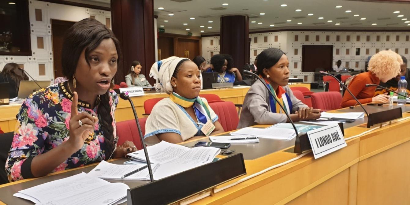 Marina Moulou-Gnatho est une activiste pour la paix en RCA.