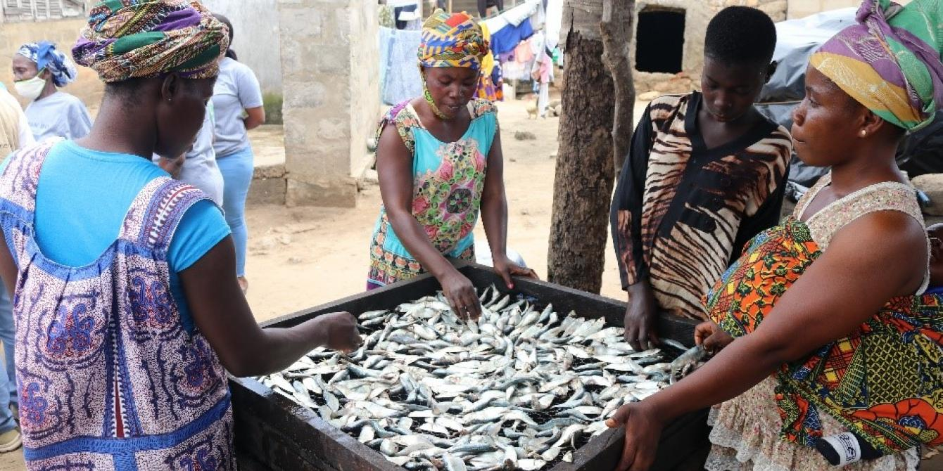 The fisheries sector  serves as the main occupation for a lot of women and men in the coastal communities of Ghana. Credit: Naana Nkansah Agyekum/Oxfam