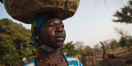 Aguiratou Ouedraogo is a farmer and mother of 7 children in the village of Soubo, Burkina Faso. Credit: Samuel Turpin/ Oxfam
