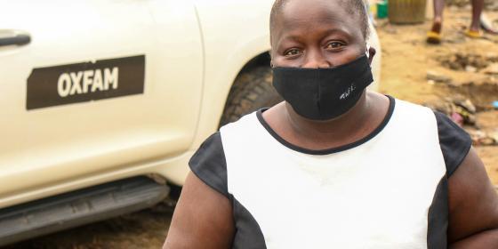 Bone Kortie est une commerçante qui a perdu sa source de revenu des suites de la pandémie. Crédit: Bettie Kemah Johnson-Mbayo/Oxfam
