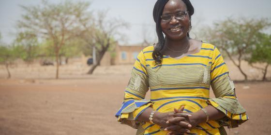Naomie Ouedraogo est une femme engagée pour la paix au Burkina Faso