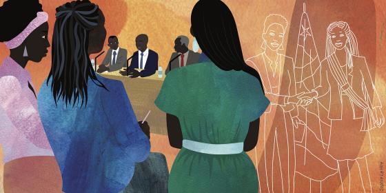 Illustration de Rosalie en République centrafricaine. Crédit : Sophie Le Hire
