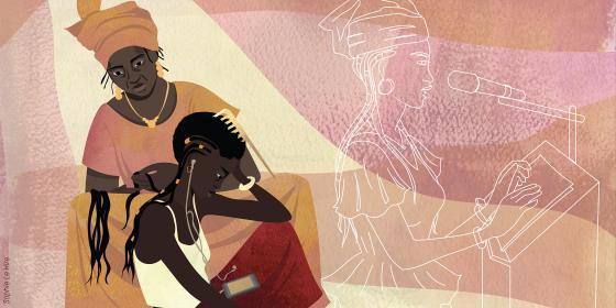Illustration de Tedy au Mali. Crédit : Sophie Le Hire